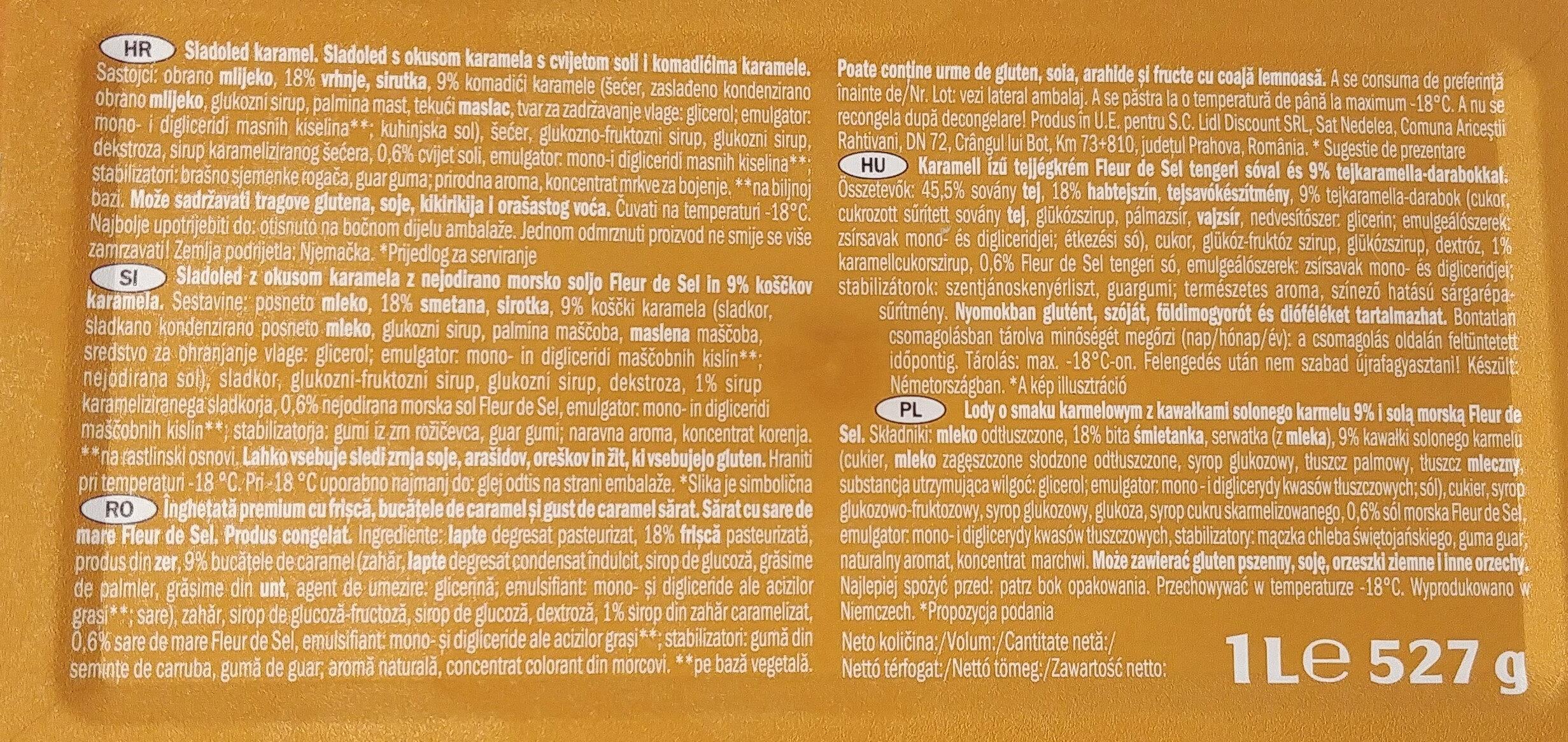 Premium Salted Caramel - Składniki - pl