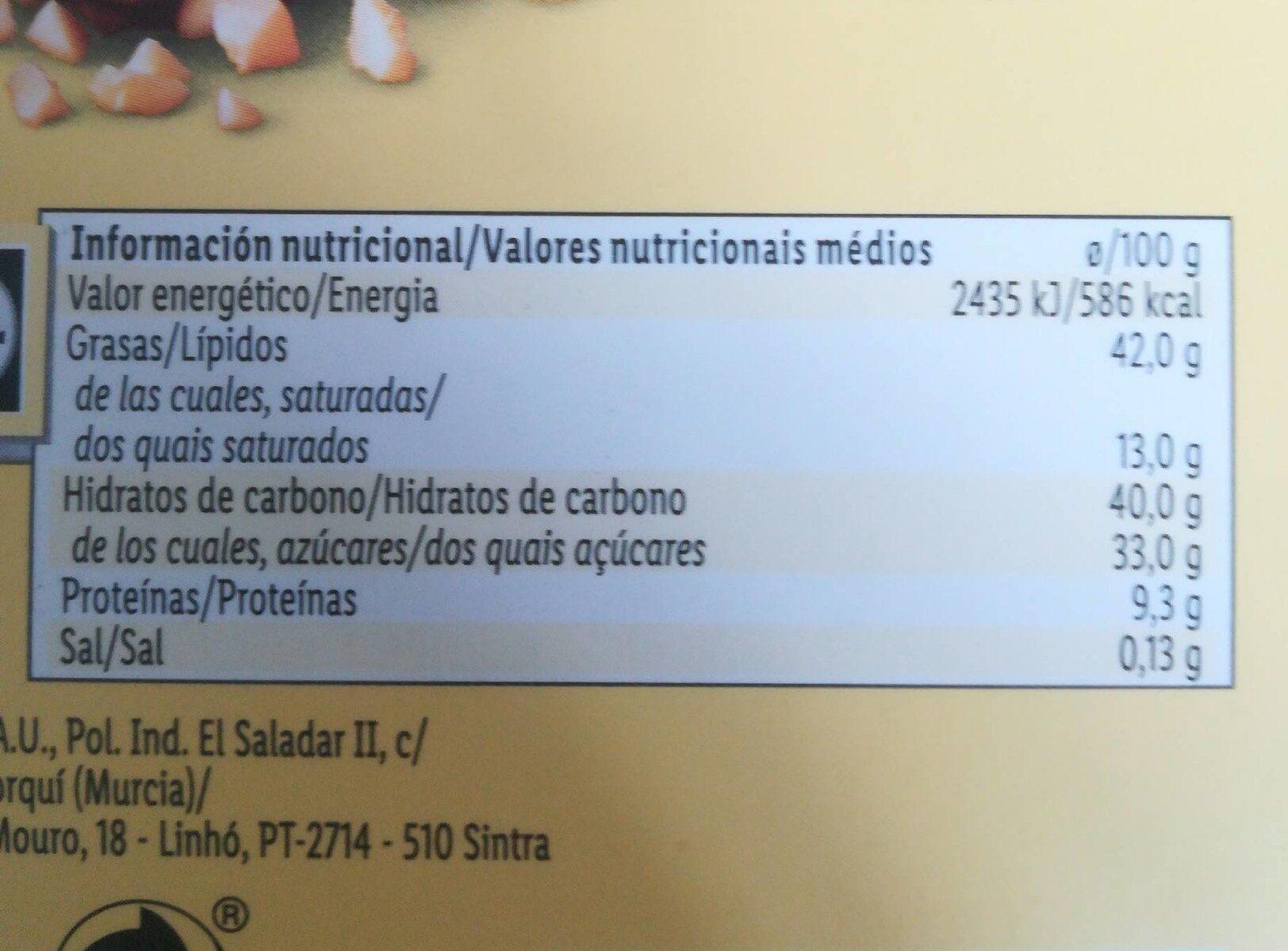 Amidala - Nutrition facts - de