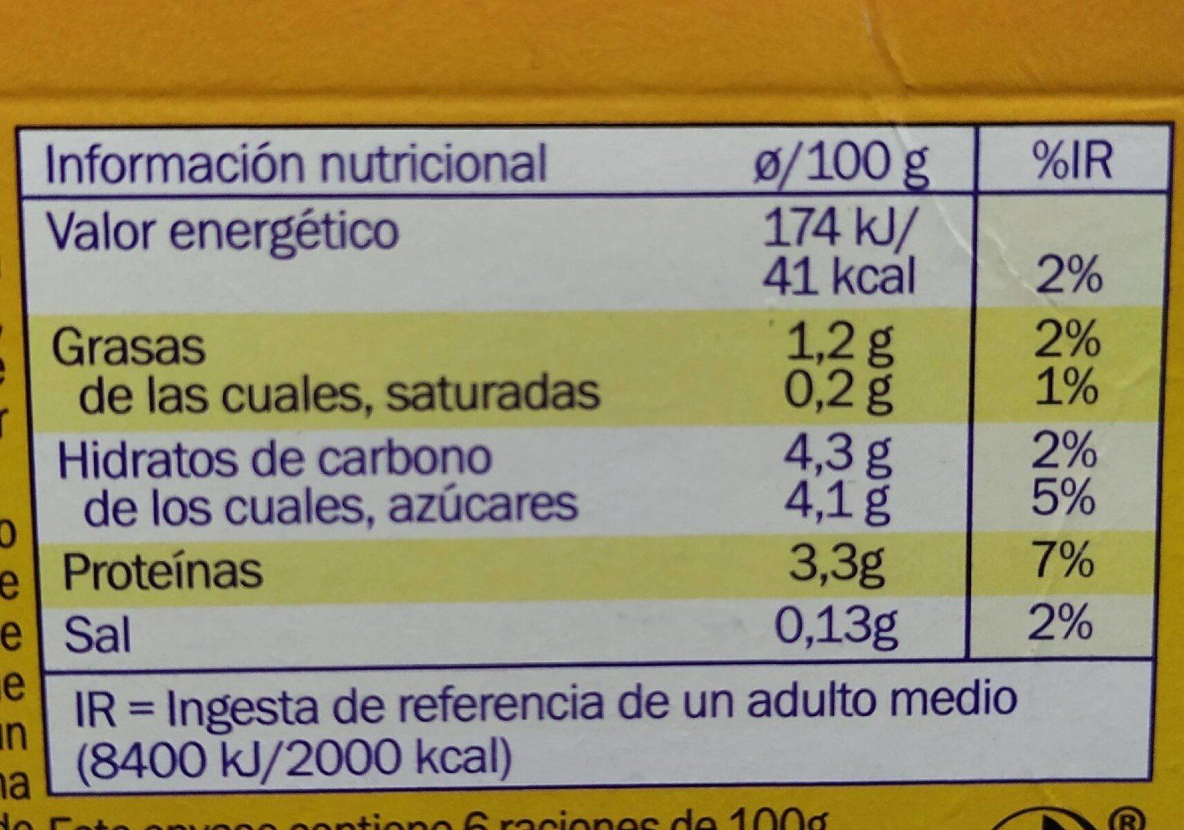 Sensacol bebida de yogur - Informations nutritionnelles - es