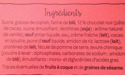 Fondant au Chocolat et son Cœur Coulant - Ingredients