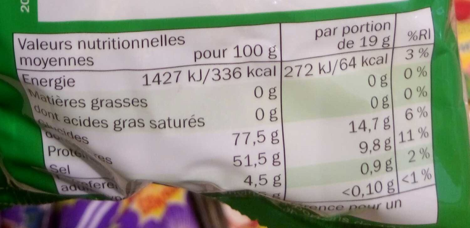 Apple Loopies super acide (maxi pack) - Nutrition facts