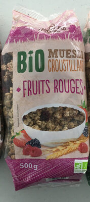 Bio muesli croustillant fruits rouges - Prodotto - fr