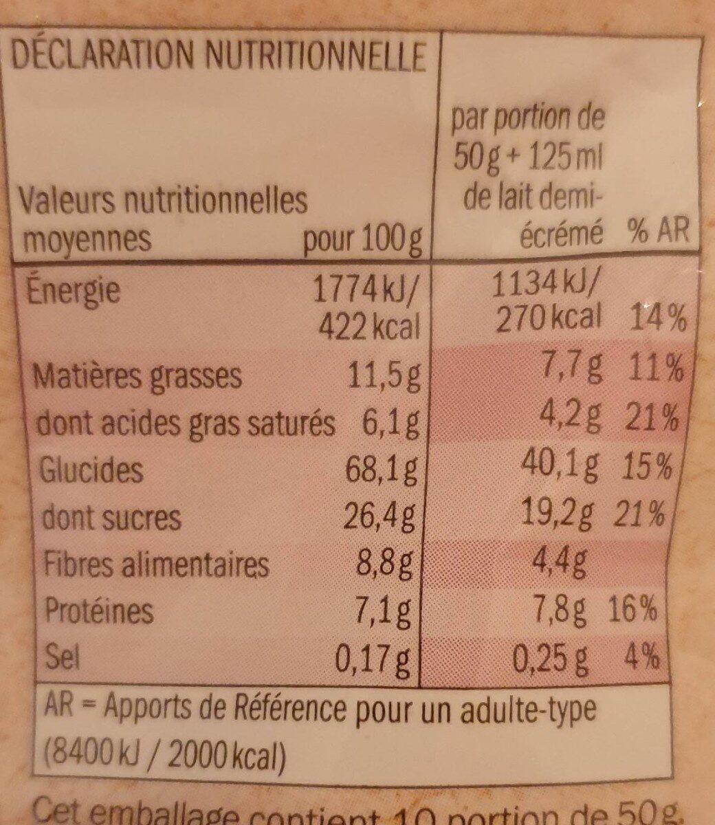 Bio muesli croustillant fruits rouges - Nutrition facts - fr