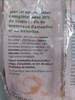 Muesli fruits & noix - Ingredients - fr