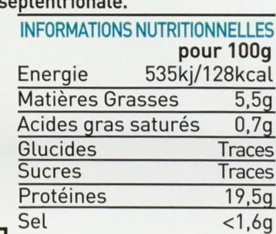 Pinces de Tourteau prélassées cuites pasteurisées - Nutrition facts - fr