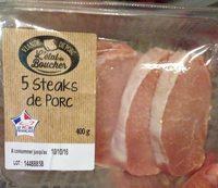 5 Steaks de Porc - Produit