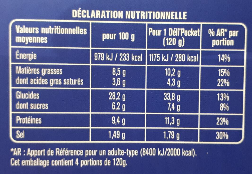 Deli Pocket - Nutrition facts