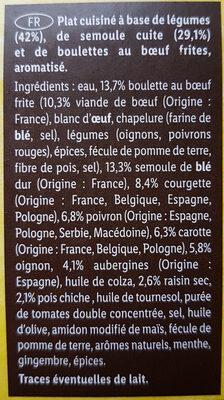 Tajine de boeuf - Ingrédients - fr