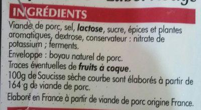 La Courbe - Ingrédients - fr