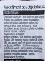 6 chipolatas et 6 merguez - Ingrédients - fr