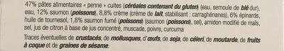 Penne au Saumon créme d'épinards - Ingredients