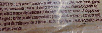Pain de mie complet - Ingredienti - fr
