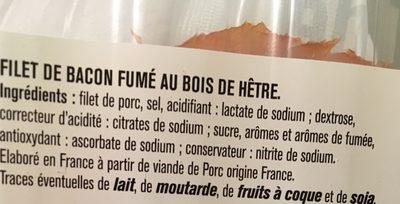Filet de bacon fumé - Ingrédients - fr