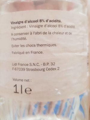 Vinaigre cristal - Voedingswaarden