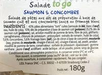 Torti Saumon & Concombre - Ingrédients