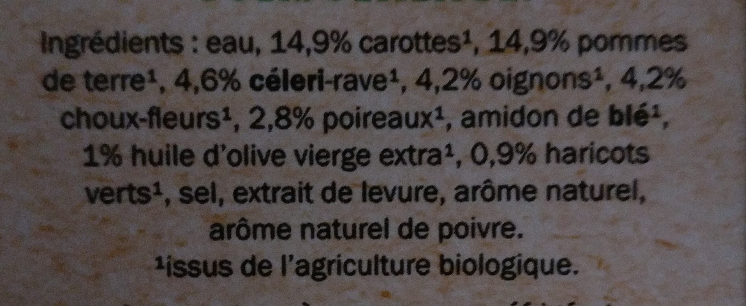 Bio mouliné de 10 légumes - Ingrédients