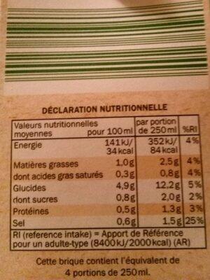 Moulinet de 7 légumes - Voedingswaarden - fr