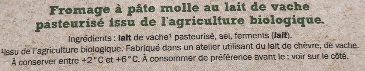 Bio coulommiers - Ingrédients - fr