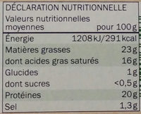 Bio coulommiers - Informations nutritionnelles - fr
