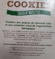 Cookies chocolat noisette - Ingrediënten