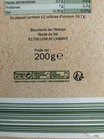 Cookies chocolat noisette - Recyclinginstructies en / of verpakkingsinformatie - fr