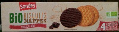 Biscuits nappés chocolat noir bio - Product - fr