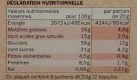 Biscuits nappés chocolat noir bio - Nutrition facts - fr