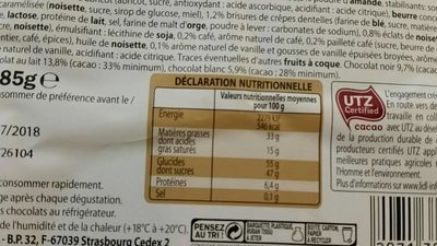 Chocolat tradition - Nutrition facts
