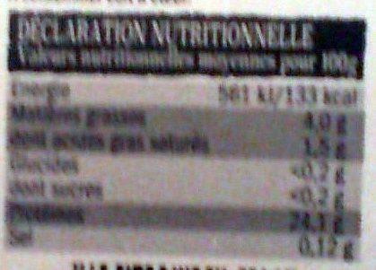 5 Steaks de Porc (Sélection Fan de Barbecue) - Nutrition facts