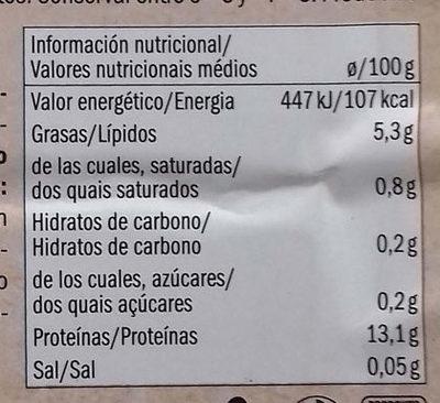 Bio Tofu Classique - Información nutricional