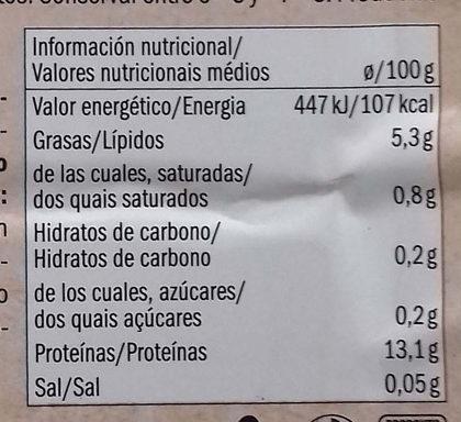 Bio Tofu Classique - Información nutricional - es