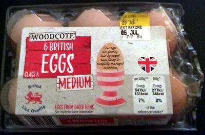 6 british eggs - Product