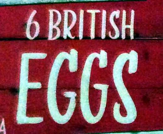 6 british eggs - Ingredients