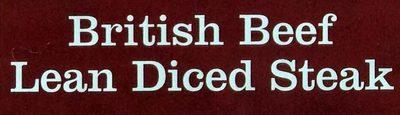 British beef lean diced steak - Ingredients - en