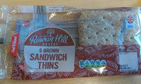 Rowan Hill 6 Brown Sandwich thins - Product