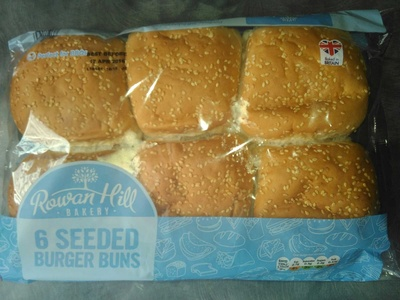 6 seeded burger buns - Product