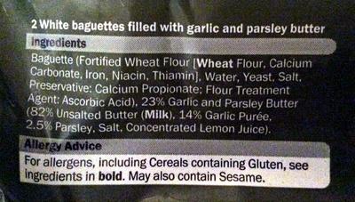 Garlic Baguettes - Ingredients