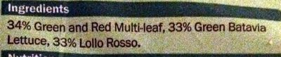 Mild Mixed Leaf - Ingredients