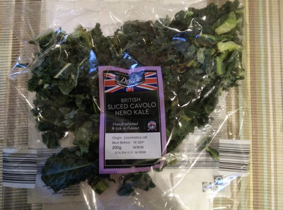 British sliced cavolo nero kale - Product