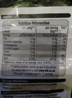 British sliced cavolo nero kale - Nutrition facts