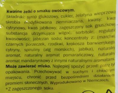 Sour Fruits - Kwaśne żelki o smaku owocowym. - Ingrediënten - pl