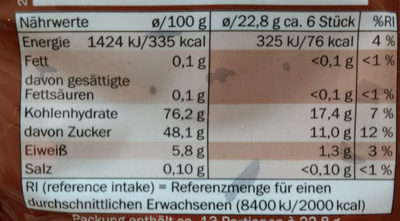 Cola - Nutrition facts