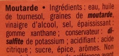 Moutarde mi-forte - Ingredients