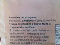 Kalifornische Mandeln, naturbelassen - Ingrédients - fr