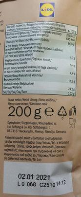 Kalofornische Mandeln, naturbelasen - Wartości odżywcze - pl