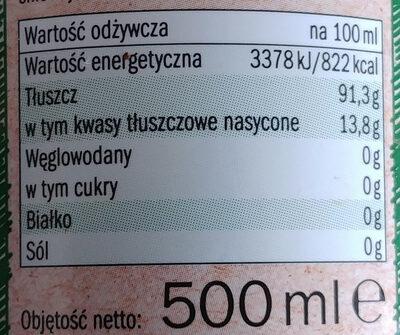 Bio Organic Natives Olivenöl Extra, Aus Spanien - Wartości odżywcze