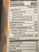 Italian bread - Nutrition facts - en