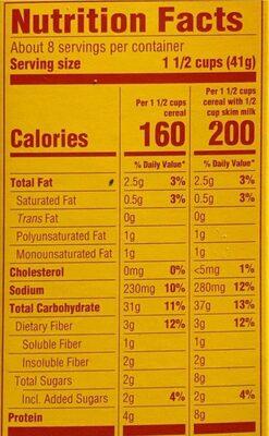 Oat Hoops - Informations nutritionnelles - en