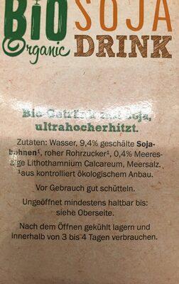 Bio boisson Soja - Ingrediënten - de