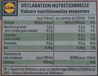 Bio boisson Soja - Voedingswaarden - de